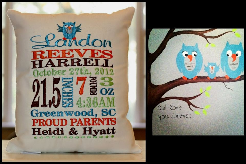 Baby S Birth Announcement Personalized Pillows Signature