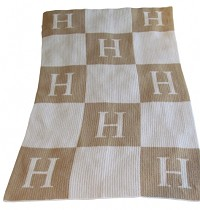 Classic Blanket with Initial and Blocks