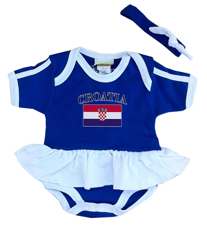 Croatia Ruffled Onesie