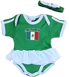 Mexico Ruffled Onesie
