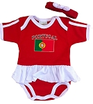 Portugal Ruffled Onesie