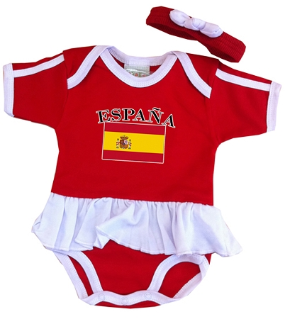 Spain Ruffled Onesie