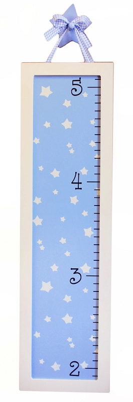 Blue Star Wooden Growth Chart