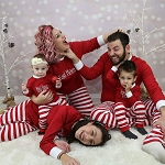 Adults & Kids Christmas & Holiday PJ's in RED Batch #2