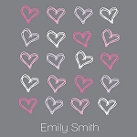 Scribbled Hearts Print
