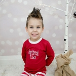 Adults & Kids Christmas & Holiday PJ's in RED Batch #3 WHITE CUFFS