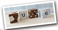 Chocolate Wooden Block Letters