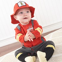 """Big Dreamzzz"" Baby Firefighter Two-Piece Layette Set"