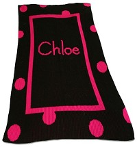Chic Blanket with Large Polka Dots