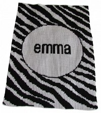 Stylish Stroller Blanket with a Zebra Stripe