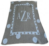 Large Polka Dot Blanket with Monogram or Name