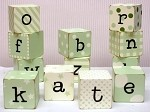 Green Wooden Block Letters