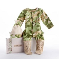 """Big Dreamzzz"" Baby Camo Two-Piece Layette Set in Backpack Gift Box"