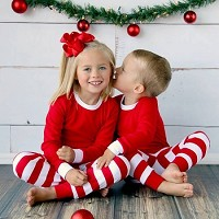 Adults & Kids Christmas & Holiday PJ's in RED