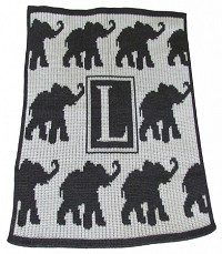 Walking Elephants Blanket